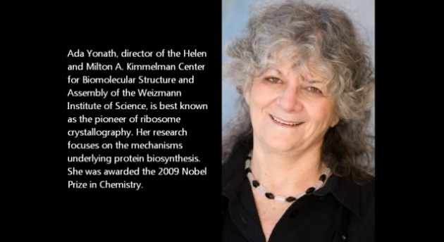 Ada E. Yonath, PhD Weizmann Institute of Science Structural Biology Image courtesy of Newswise.com