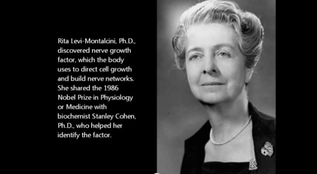 Rita Levi-Montalcini, PhD (1909 - 2012) Institute of Cell Biology CNR, Rome, Italy Biochemistry and Cell Physiology Image courtesy of NNDB.com